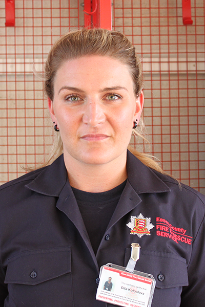 Firefighter profile shot